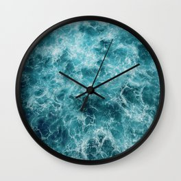 Blue Ocean Waves Wall Clock
