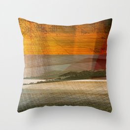 Landscape in the Middle East Throw Pillow