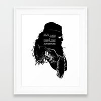 dumbledore Framed Art Prints featuring Dumbledore - Quote Silhouette by GTRichardson