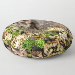 A Snake In The Moss Floor Pillow
