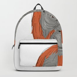 Unflanged Male Orangutan Drawing Backpack