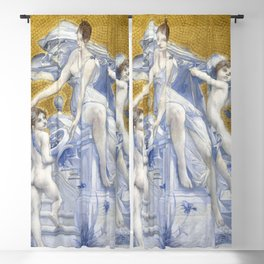 Allegory of Fortune (1896) painting in high resolution by Luc-Olivier Merson Blackout Curtain
