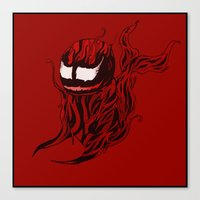 carnage Canvas Prints featuring Carnage Whale  by CoolBreezDesigns