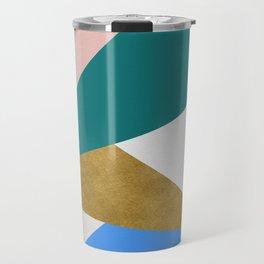 Contemporary Triangle Digital Print Travel Mug
