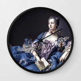 Madame De Pompadour Wall Clock