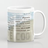cape cod Mugs featuring cape cod by marie grady palcic