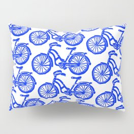 roule ma poule - wanna ride my bicycle BLUE Pillow Sham