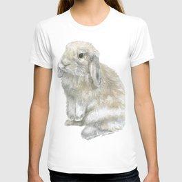 Lop Rabbit Watercolor Painting Bunny T-shirt