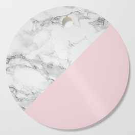 Marble + Pastel Pink Cutting Board
