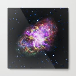 119. New View of the Crab Nebula Metal Print