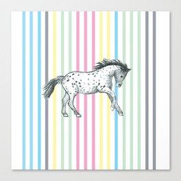 Candy cane horse Canvas Print