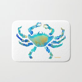 Craggy Blue Crab Bath Mat