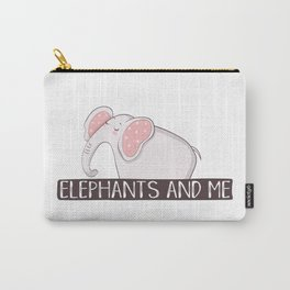 Elephants And Me Carry-All Pouch