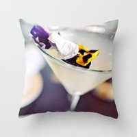 martini Throw Pillows featuring Martini by kbattlephotography