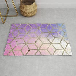 Pixie dust geometric watercolor Rug