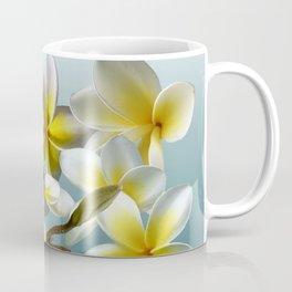 Plumeria on Blue Coffee Mug