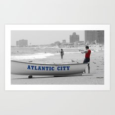 Atlantic City Memories Art Print