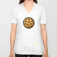 cookie V-neck T-shirts featuring Cookie by HOVERFLYdesign