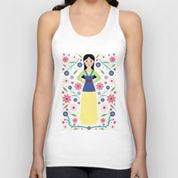 mulan Tank Tops featuring Mulan by Carly Watts