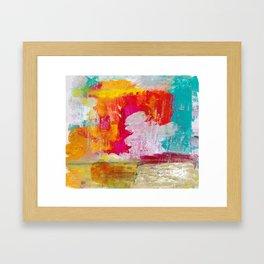 BURST OF COLOUR Framed Art Print