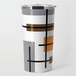 Mid Century Modern Cubicle Art Travel Mug