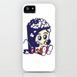 Movie Fan Popcorn Monster iPhone Case