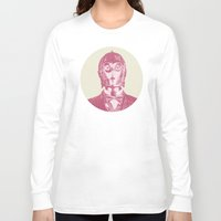 c3po Long Sleeve T-shirts featuring C3PO by Les petites illustrations