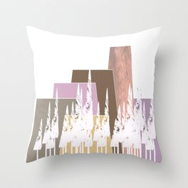 Pastel Mountains Throw Pillow
