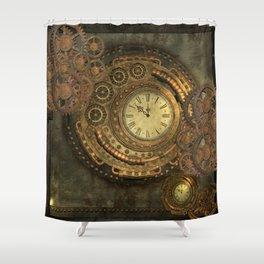 Awesome steampunk design, clockwork Shower Curtain