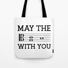 May the 4th be with you (light colors/alto clef) Tote Bag