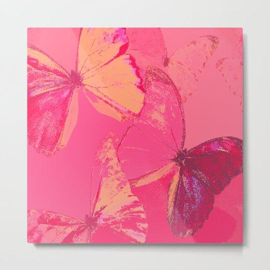 Butterflies in red shades Metal Print