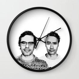 Jemaine and Taika 3 Wall Clock