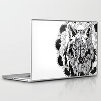 bad wolf Laptop & iPad Skins featuring Bad Wolf by Carina Maitch