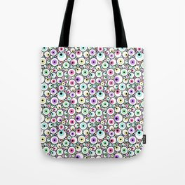 Candy Pastel Eyeball Pattern Tote Bag