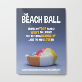 Un-buy-lievables:  This Beach Ball Metal Print