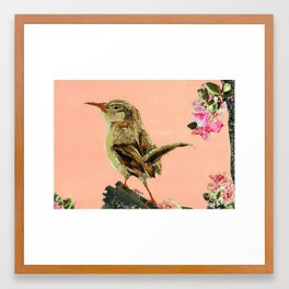 brown birdy Framed Art Print
