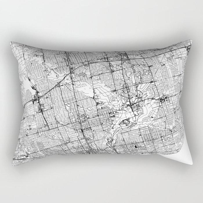 Toronto White Map Rectangular Pillow