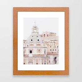 Pale Rome Framed Art Print
