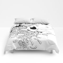Skull (Pushing Up Daisies) Comforters