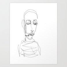 He didn`t really care... Art Print