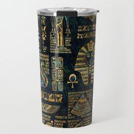 Ancient Egyptian Hieroglyph Sphinx Pyramid Travel Mug