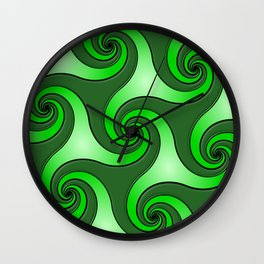 Spiral Triskeles Wall Clock