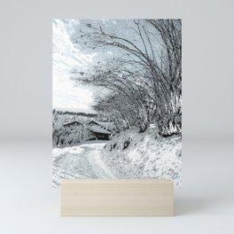 Silvery Winter Mini Art Print