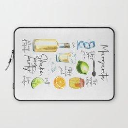 Margarita Recipe Watercolor Illustration Laptop Sleeve
