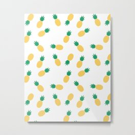 PINEAPPLE ANANAS FRUIT FOOD PATTERN Metal Print