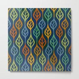 Autumn leaves pattern II Metal Print