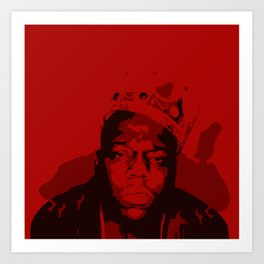 The Notorious BIG: King OF Brooklyn Art Print