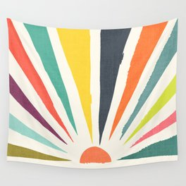 Rainbow ray Wall Tapestry