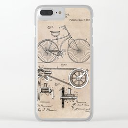 patent Bicycle 1890 Rice Clear iPhone Case