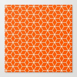 Winter 2019 Color: Unapologetic Orange in Cubes Canvas Print